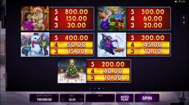Lucky 247 featuring the Video Slots Happy Holidays with a maximum payout of $88,000