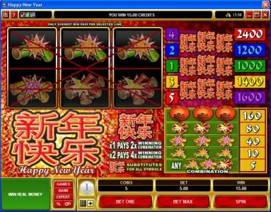 Svedala featuring the Video Slots Happy New Year with a maximum payout of $600,000