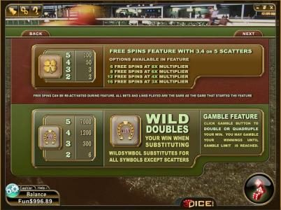 Play slots at 3Dice: 3Dice featuring the Video Slots Happy Valley with a maximum payout of $1,400