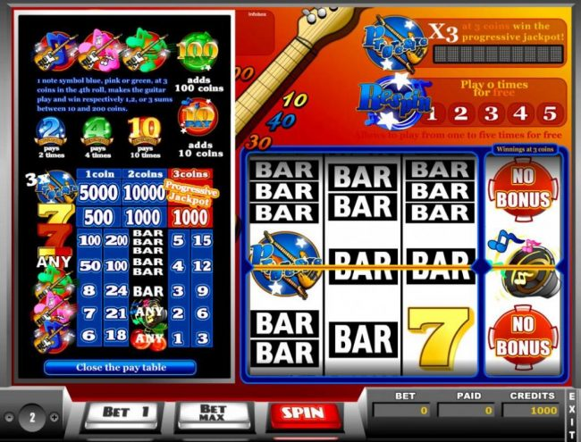 Play slots at Winstar: Winstar featuring the Video Slots Hard Will Rock with a maximum payout of Jackpot