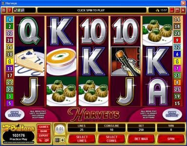 Play slots at Platinum Play: Platinum Play featuring the Video Slots Harveys with a maximum payout of $10,000