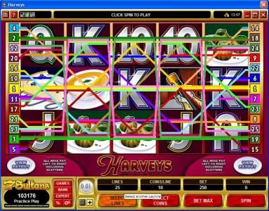 Winner Million featuring the Video Slots Harveys with a maximum payout of $10,000