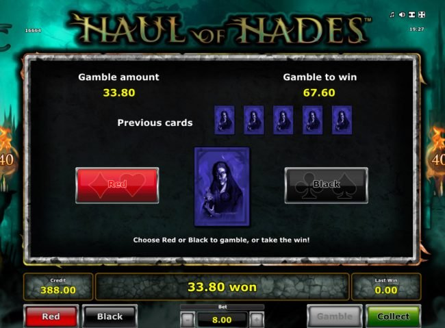 Quasar featuring the Video Slots Haul of Hades with a maximum payout of $40,000