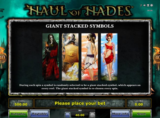 AC Casino featuring the Video Slots Haul of Hades with a maximum payout of $40,000