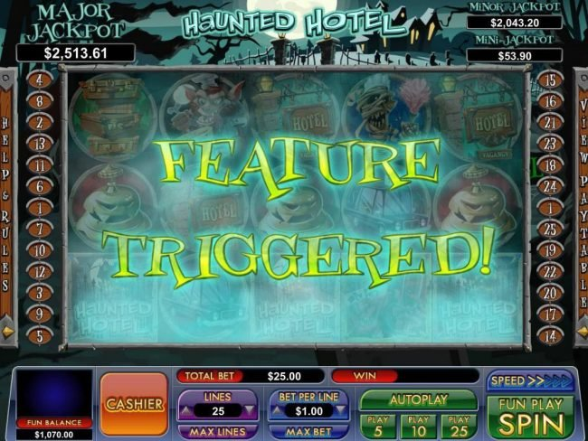 Play slots at Slot Madness: Slot Madness featuring the Video Slots Haunted Hotel with a maximum payout of Jackpot