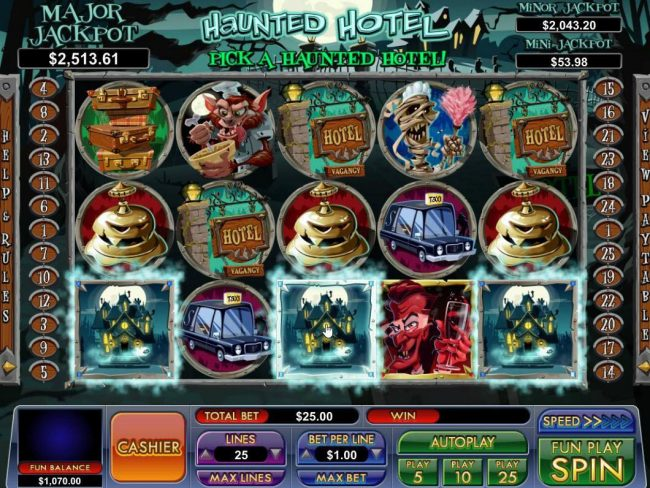 BuzzLuck featuring the Video Slots Haunted Hotel with a maximum payout of Jackpot