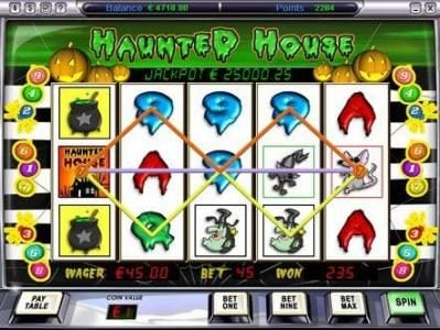 Video Poker Classic featuring the Video Slots Haunted House with a maximum payout of $125,000