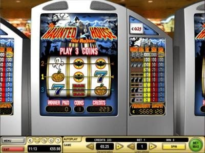 Play slots at Chomp: Chomp featuring the Video Slots Haunted House with a maximum payout of $10,000