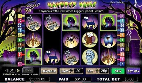 Spintropolis featuring the video-Slots Haunted House with a maximum payout of 1,800x