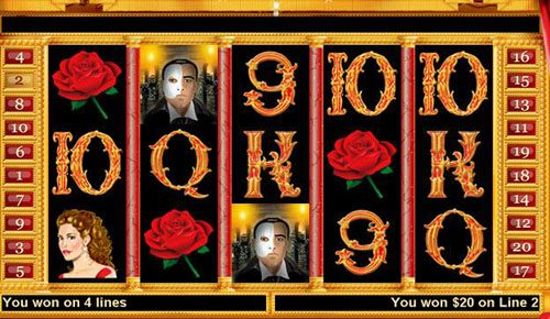 Aladdins Gold featuring the Video Slots Haunted Opera with a maximum payout of $250,000