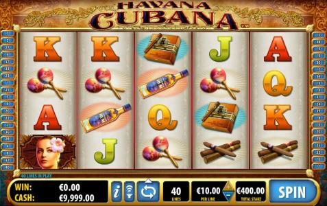 Secret Slots featuring the Video Slots Havana Cubana with a maximum payout of $3,000