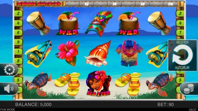 Superior featuring the Video Slots Hawaii Vacation with a maximum payout of $40,000