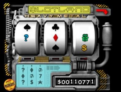 Slotland featuring the Video Slots Heavy Metal with a maximum payout of $1,280