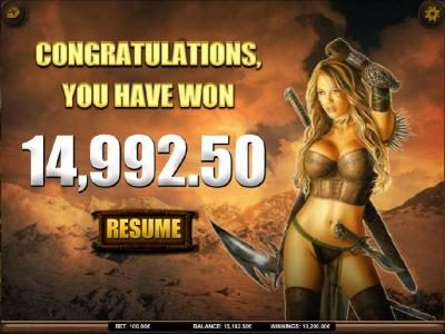 Campeon featuring the Video Slots Heavy Metal Warriors with a maximum payout of $62,500