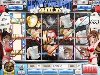 Play slots at Grand Bay: Grand Bay featuring the Video Slots Heavyweight Gold with a maximum payout of $2,500