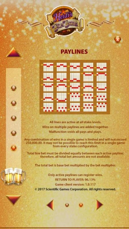 EU Casino featuring the Video Slots Heidi's Bier Haus with a maximum payout of Jackpot
