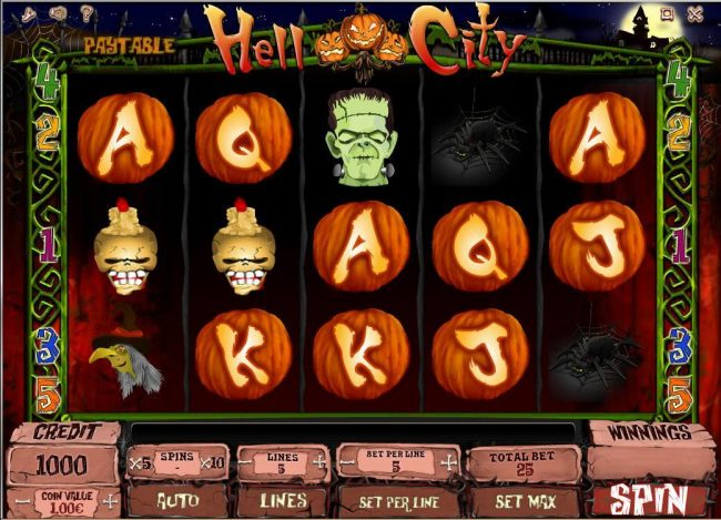 Play slots at Cbet: Cbet featuring the Video Slots Hell City with a maximum payout of $40,000