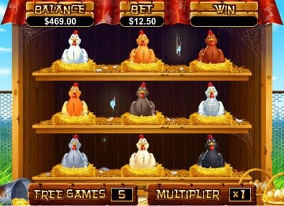 Red Dog featuring the Video Slots Hen House with a maximum payout of $12,500