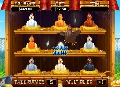 Bovegas featuring the Video Slots Hen House with a maximum payout of $12,500