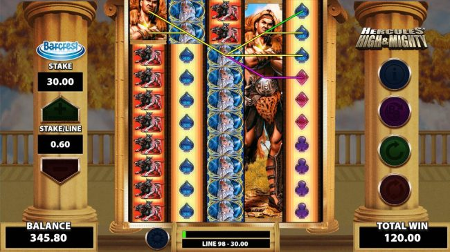 Mega Casino featuring the Video Slots Hercules High & Mighty with a maximum payout of $250,000