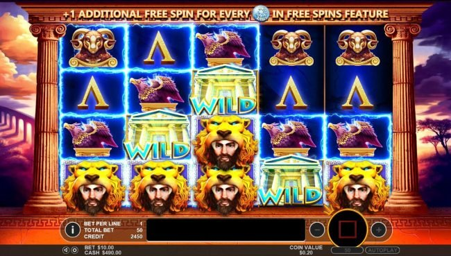 MANSION featuring the Video Slots Hercules Son of Zeus with a maximum payout of $200,000