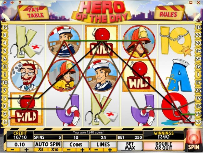 Rose Slots featuring the Video Slots Hero of the Day with a maximum payout of $50,000