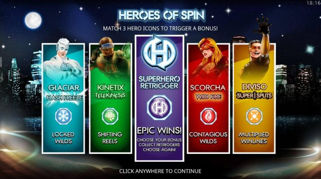 Play slots at Reel Vegas: Reel Vegas featuring the Video Slots Heroes of Spin with a maximum payout of $4,000