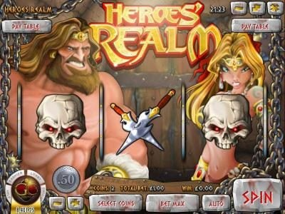 Play slots at Wizbet: Wizbet featuring the Video Slots Heroe's Realm with a maximum payout of $67,500