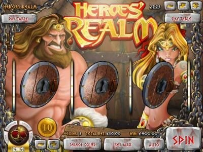 Rockbet featuring the Video Slots Heroe's Realm with a maximum payout of $67,500