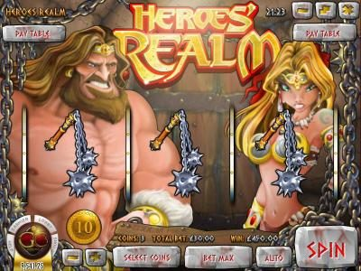 Lake Palace featuring the Video Slots Heroe's Realm with a maximum payout of $67,500