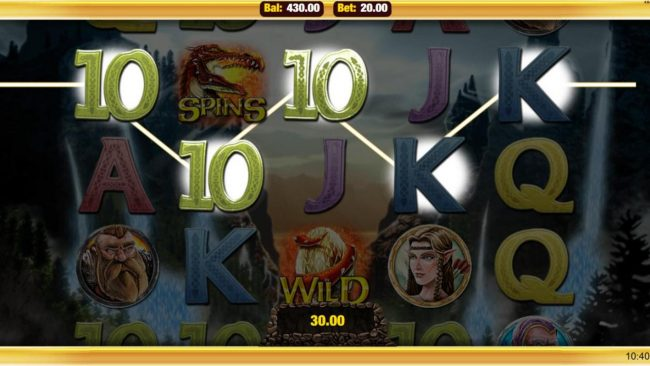 Egypt Slots featuring the Video Slots Heroic with a maximum payout of $20,000