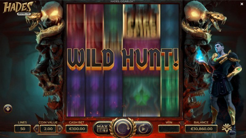 Hades Gigablox :: Wild Hunt feature randomly triggers during any spin