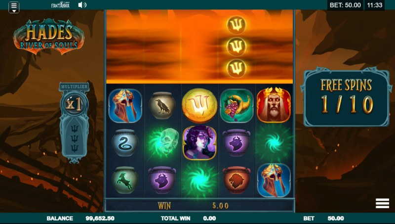Hades River of Souls :: Free Spins Game Board