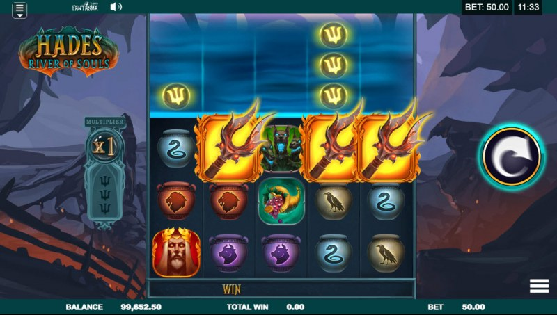 Hades River of Souls :: Scatter symbols triggers the free spins bonus feature