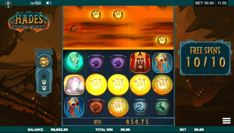 Hades River of Souls :: Multiple winning paylines