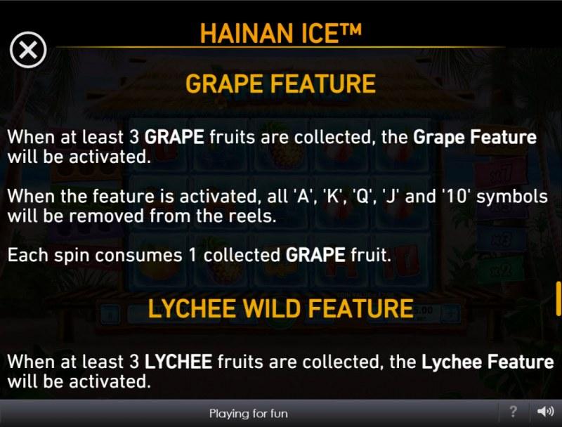 Hainan Ice :: Grape Feature