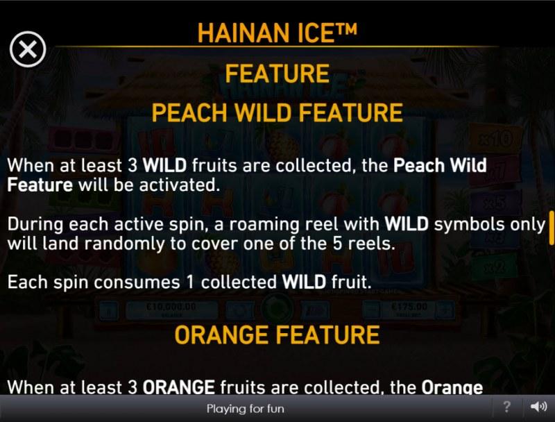 Hainan Ice :: Peach Wild Feature