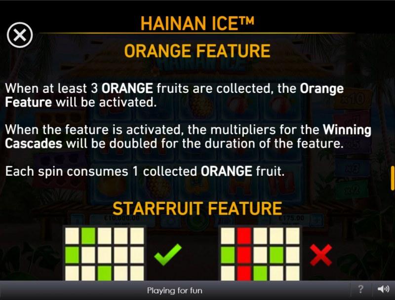 Hainan Ice :: Orange Feature