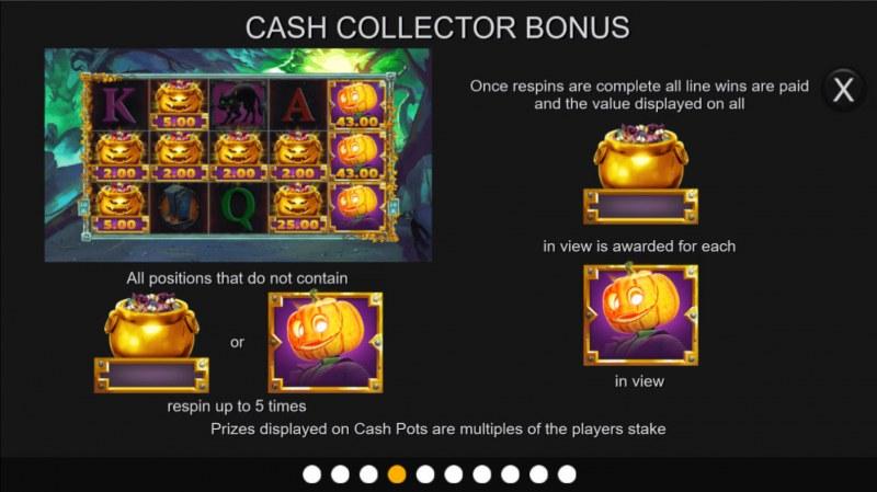 Halloween Cash Pots :: Cash Collection Bonus