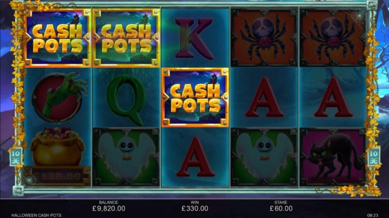 Halloween Cash Pots :: A three of a kind win