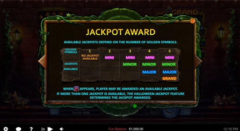 Halloween Treasures :: Jackpot Award