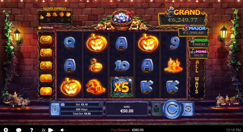Halloween Treasures :: X5 Win Multiplier