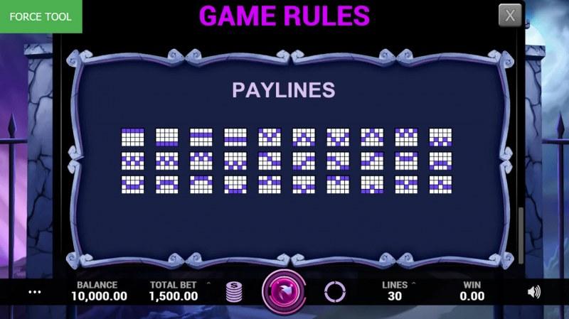 Hallowinner :: Paylines 1-30