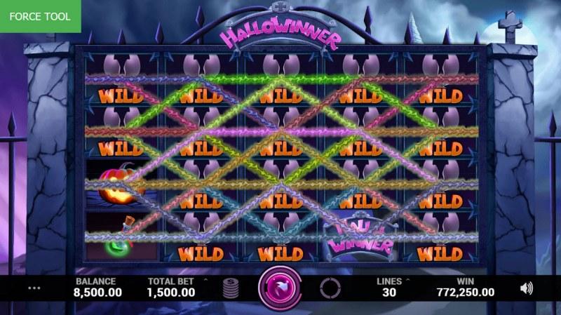 Hallowinner :: Multiple winning combinations leads to a big win