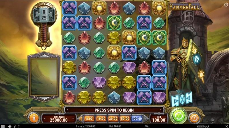 Hammer Fall :: Base Game Screen