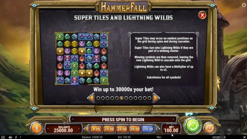 Hammer Fall :: Wild Symbol Rules