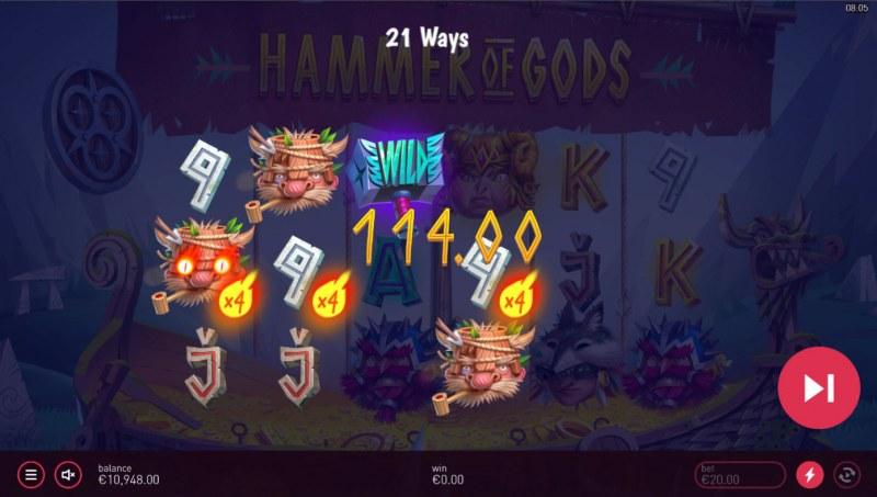 Hammer of Gods :: Multiple winning combinations