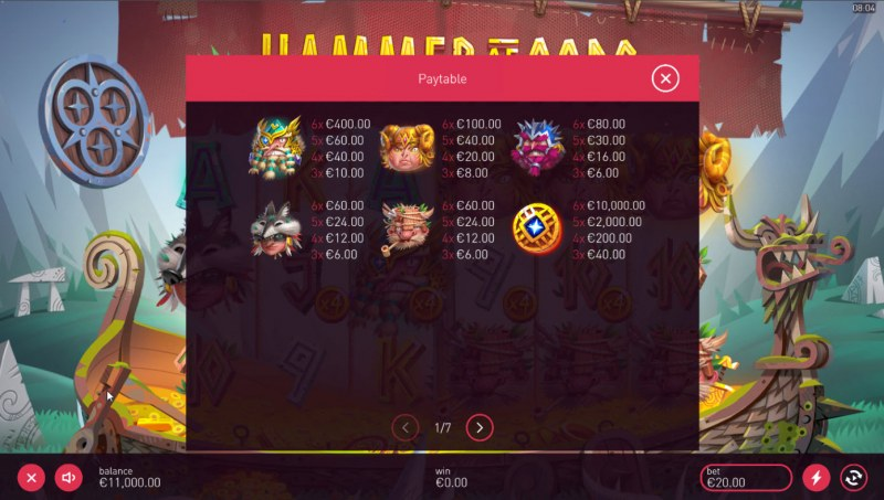 Hammer of Gods :: Paytable - High Value Symbols