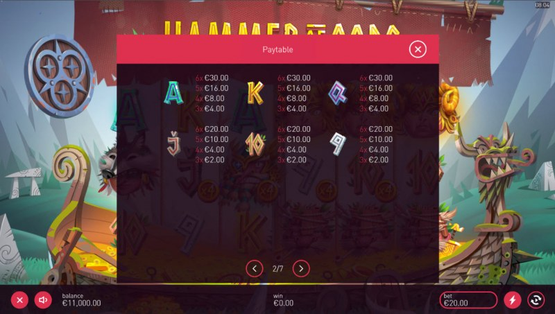 Hammer of Gods :: Paytable - Low Value Symbols