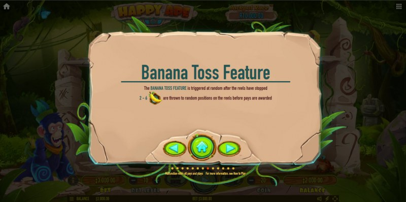 Happy Ape :: Banana Toss Feature
